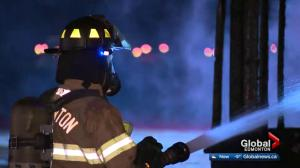 Investigation underway after 2 under-construction north Edmonton homes go up in flames