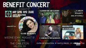 Benefit concert being held for anti-bullying society (05:46)