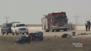 3 dead after collision near Beiseker, Alberta: EMS