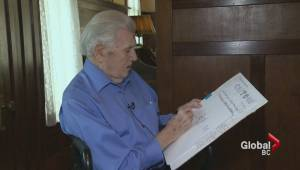 Elderly cartoonist shows no signs of putting down sketch pad