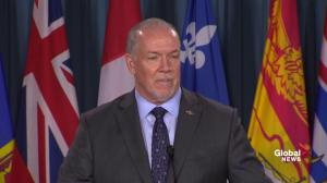 John Horgan continues to disagree with Trans Mountain pipeline plan