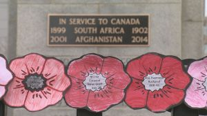 Regina's Cenotaph re-dedicated to honour those who fought in Afghanistan, Boer Wars