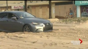 Hurricane Irma leaves Ft. Lauderdale streets clogged with sand