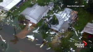 Drone footage shows Naples, Florida in the aftermath of Hurricane Irma