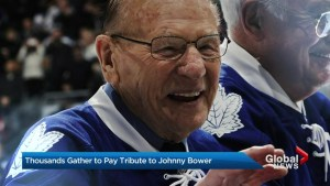Toronto Maple Leafs legend Johnny Bower honoured by fans, peers