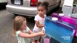 Ajax kids sell lemonade for child battling cancer