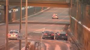 Two vehicles exchange gunfire along Allen Road