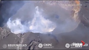 Gases rise from crater of Mexico's Popocatepetl Volcano