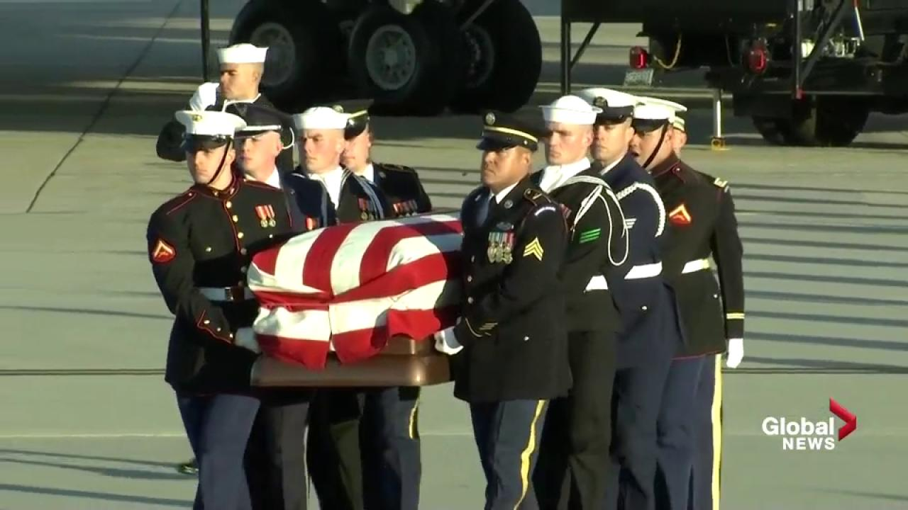 Bush returns to Washington for final time