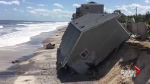 Irma sweeps away beach homes near St. Augustine, Fla.