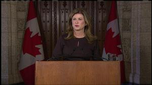 Fighting back tears, Interim Conservative leader Rona Ambrose remembers her 'good friend Jim'