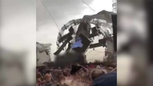 Shocking moment of stage collapses at music festival caught on camera