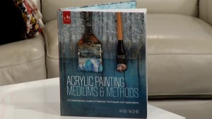 Acrylic paint artist Rheni Tauchid
