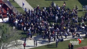 Thousands walk out of class at Marjory Stoneman Douglas High