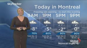 Global News Morning weather forecast: Wednesday, January 23