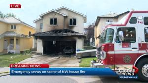 Emergency crews on scene of house fire in northwest Calgary