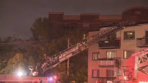 RAW: Overnight fire in Pierrefonds