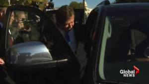 Paul Manafort leaves court after pleading not guilty to charges in Russia probe