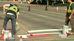 Lethbridge crosswalks painted ahead of Pride Fest