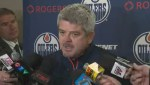 Oilers coach Todd McLellan reacts to weekend attacks in Edmonton