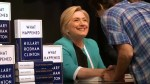 Hundreds of fans turn out for Hillary Clinton book signing in New York City