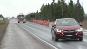 Highway construction project between Fredericton and Moncton slows