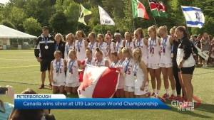 Canada wins silver at U19 Women's Lacrosse World Championship