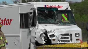 One injured in Peterborough collision involving delivery vehicles, septic truck