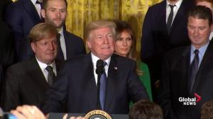 Trump jokes about NAFTA negotiations with Pittsburgh Penguins owner during team visit