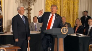 Trump announces new 'Space Force' catching many officials by surprise