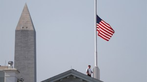 Trump has 'great deal of respect' for media as WH lowers flag in honour of Capital Gazette victims