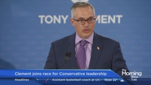 Tony Clement on joining the race for the Conservative leadership