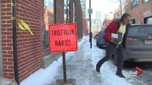 Montrealers slipping on icy sidewalks