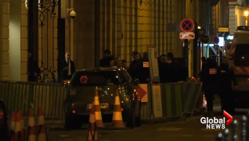 Armed robbery at jewelry store in the Ritz hotel in Paris