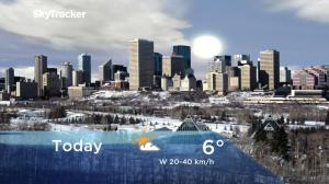 Edmonton early morning weather forecast: Monday, November 19, 2018