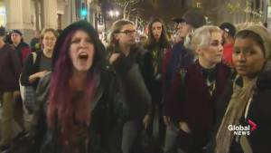 Donald Trump protesters take to streets in Portland, Oregon