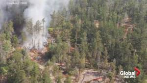 Aerial footage shows choking smog, fires from Parry Sound 33 forest fire