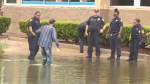 Police save man stuck in the flood after Hurricane Harvey