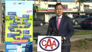 CAA announces top 10 worst roads in Ontario
