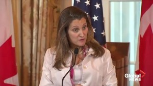 Extradition process in Huawei case must remain apolitical: Freeland