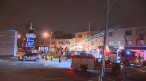Overnight fire at Ahuntsic grocery store