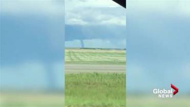 Alberta Man Who Mowed Lawn With Tornado Behind Him Was Keeping An