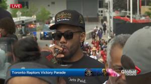 Raptors victory parade: Fans petition Kawhi to stay in Toronto