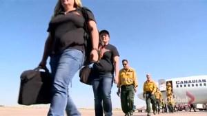Dozens of Saskatchewan firefighters return from helping fight wildfires in B.C.