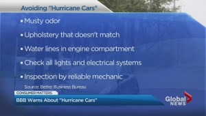 Better Business Bureau warns about buying used 'hurricane cars'
