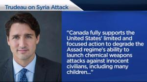 Trudeau: Canada fully supports 'focused' U.S. airstrike on Syria