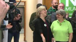 Green Party of Canada leader shows support for provincial greens during Manitoba election