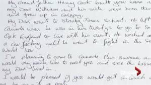 Mysterious letter links past and present for historic Calgary home