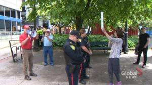 Anti-immigration group outnumbered by counterprotestors in Saint John