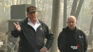 California wildfires: President Trump surveys areas affected with Jerry Brown, Gavin Newsom